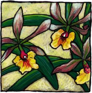 Orchidee-jaune